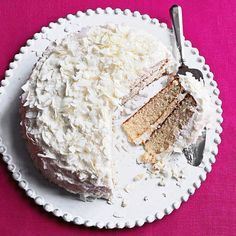 Add a twist to the classic vanilla cake with flakes of coconut on a tasty buttermilk frosting. This easy cake recipe is a great dessert for a birthday party or for any other special occasion! Everyone will be impressed with your homemade cake!