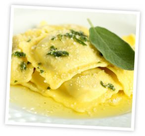 Cheese Filled Wonton Raviolis. Try with ricotta