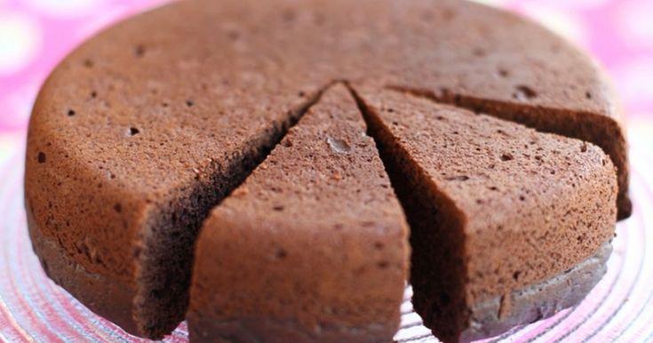 Шоколадный чудо-бисквит, который готовится быстро и просто!