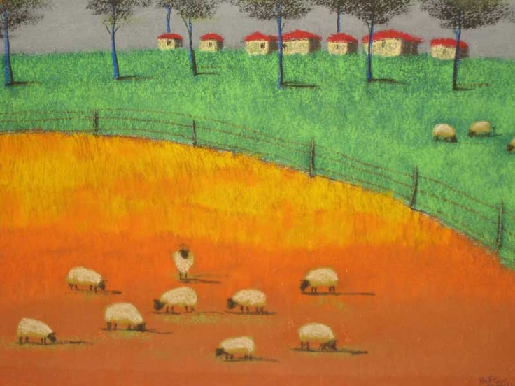 Pieter van der Westhuizen print. South African artist