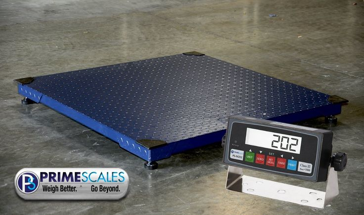 10000lbs Capacity, Durable Floor Pallet Scale, 5'x5' Base. 5'×5' Base, Suitable for standard pallet sizes. Capacity: 10000lb x 1lb floor scale. Display Converting between Gross and Net Weight. Auto-Zero Tracking. Extended Display.