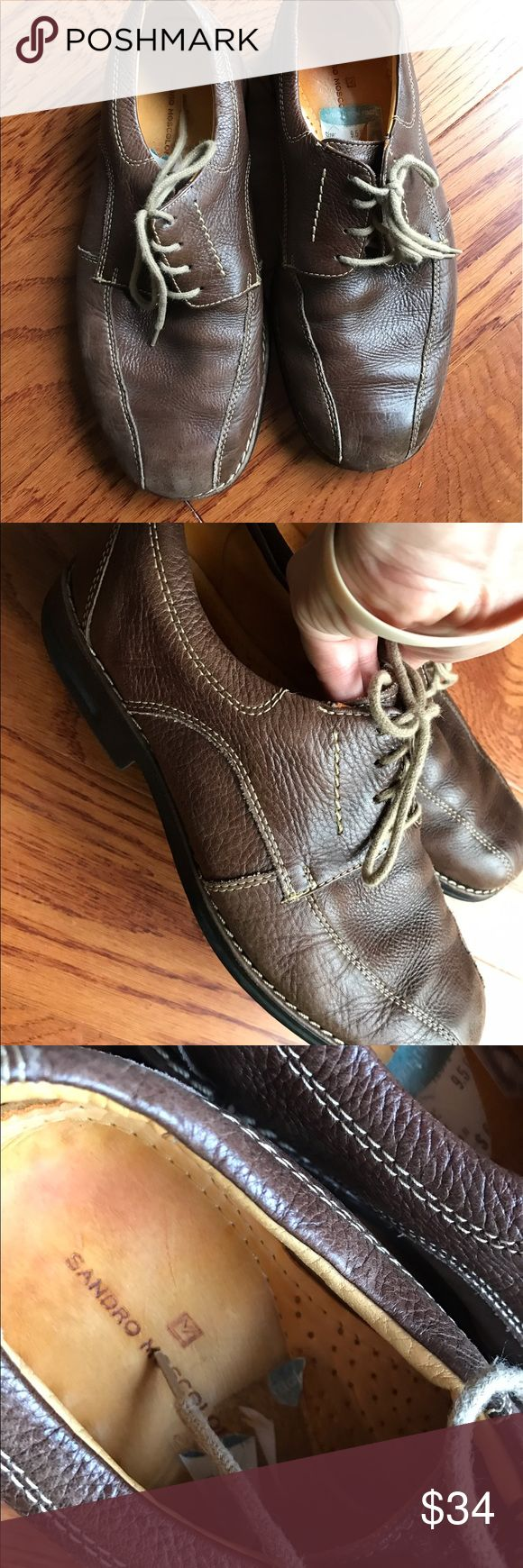 Sandro Moscoloni leather shoes men's 9.5 GUC Smoke and pet free home. Bundle discount 20% Sandro Shoes