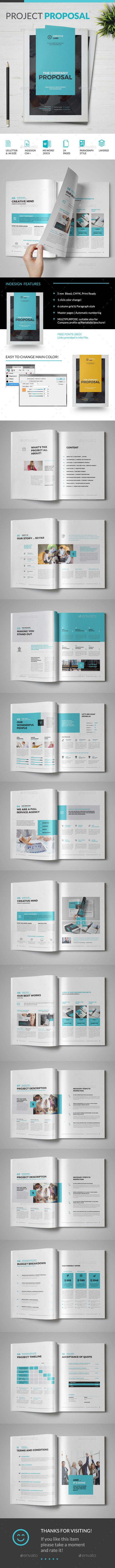 Proposal Template InDesign INDD 120 best CORPORATE