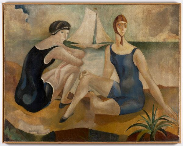 The bathers, 1925 Jose de Almada-Negreiros - by style - Art Deco