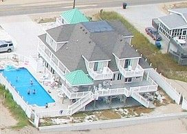 Virginia Beach House Rental: ***a Beach Oceanfront Mansion W/ Pool! Sandbridge Beach, Va. Beach, Va | HomeAway