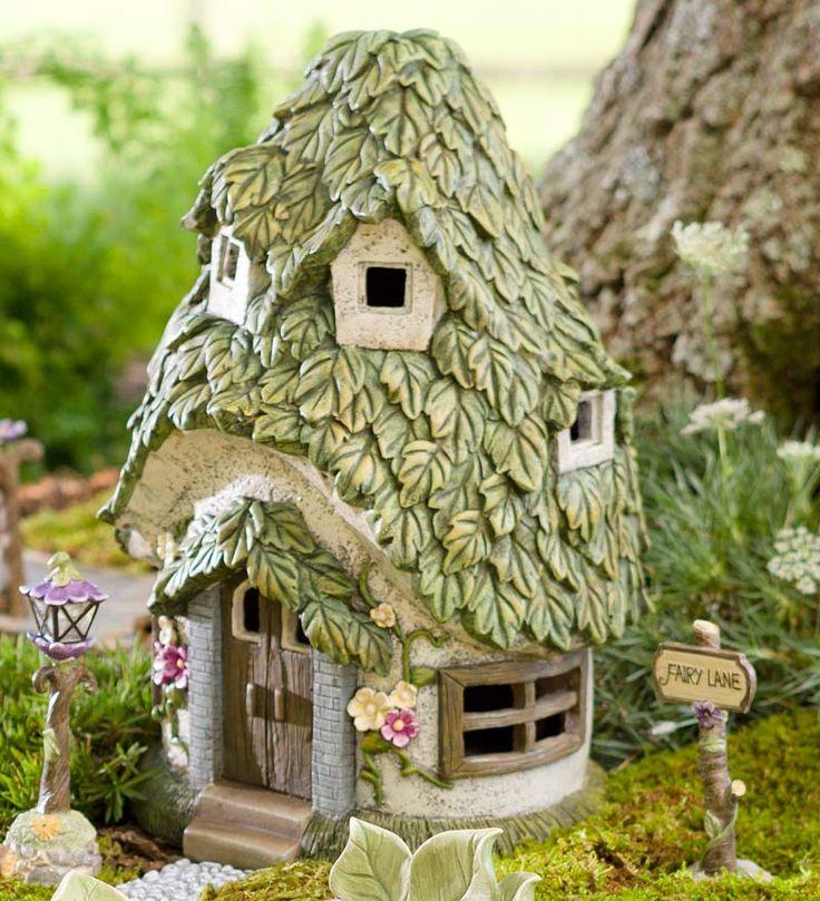Round Solar Fairy House | Mini Fairy Gardens | Plow