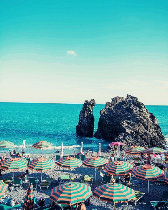 Cinque Terre Print, Italy Print, Cinque Terre Photography, Italy Beach Photography, Beach Photo, Beach Print, Monterosso, Italy Beach Print