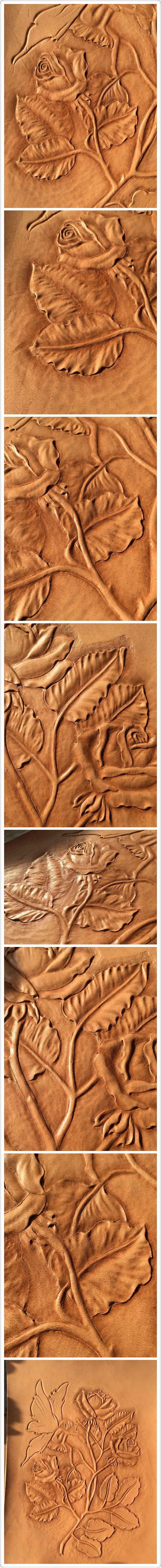 Rose garden #leather carving#leather#carving
