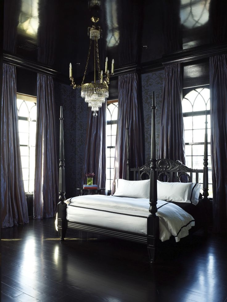1000 ideas about black bedrooms on pinterest modern canopy bed black bedroom furniture and - Dark bedroom designs ...