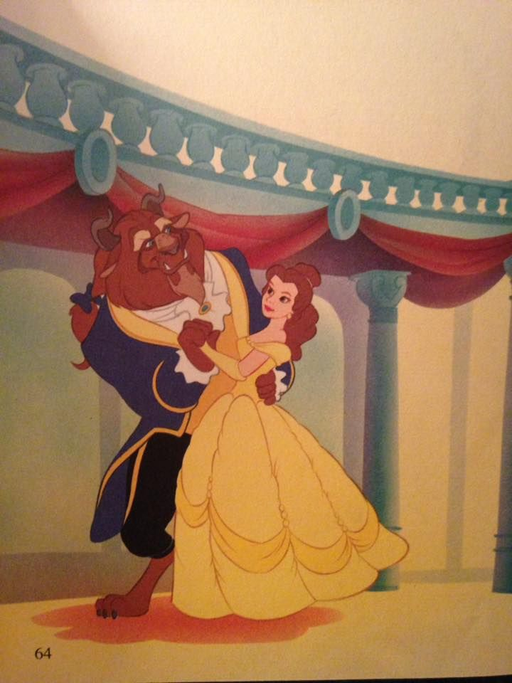 Beauty And The Beast Belle And The Beast Dancing In The Ballroom