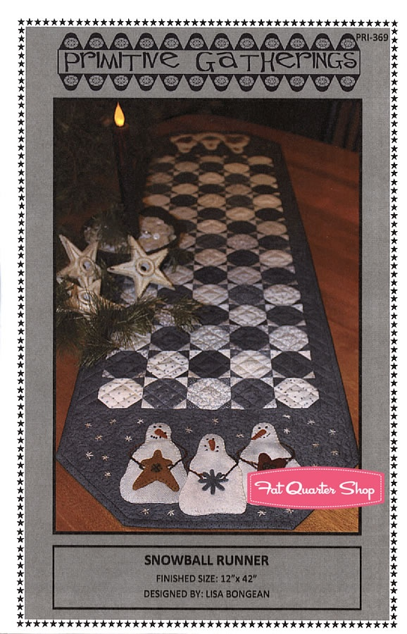 Snowball RunnerQuilt Christmas, Snowball Runners, Quilt Ideas, Quilt Tables, Tables Runners, Primitive Gatherings, Runners Pattern, Quilt Pattern, Primitives Gathering