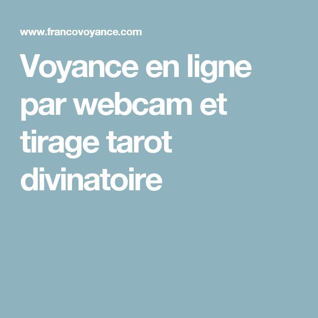 Voyance en ligne par webcam et tirage tarot divinatoire