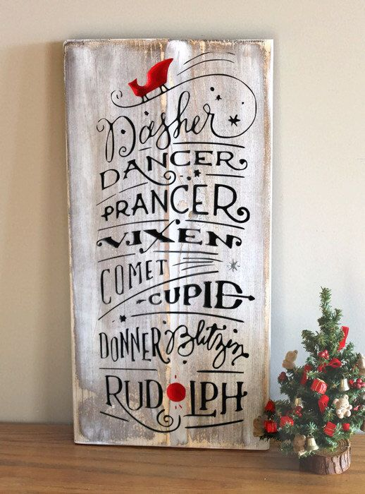 Rudolph The Red Nosed Reindeer Wood Christmas Sign - Reindeer Names Carved Wood Sign - Holiday Sign - Rustic Christmas Sign - Reindeer Sign by Gratefulheartdesign on Etsy https://www.etsy.com/listing/468024294/rudolph-the-red-nosed-reindeer-wood