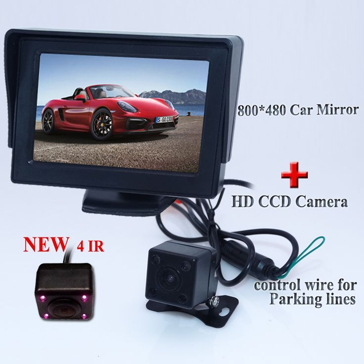 "Car auto reversing assistance security bring 4.3"" monitor and night vision camera adapt for all kind of cars available in stock"