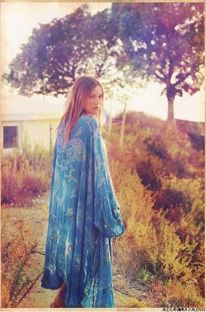 kimono.: Festivals Style, Fashion Clothing, Bohemian Baby, Blue, Color, The Life Bohem, Hippie Chic, Kimonos, Bohemian Gypsy