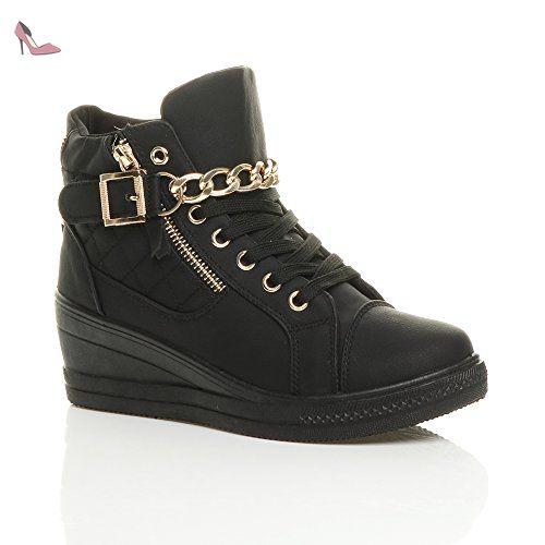Dames mi talon chaîne chaussures de tennis à semelles compensées taille 3 36 - Chaussures ajvani (*Partner-Link)