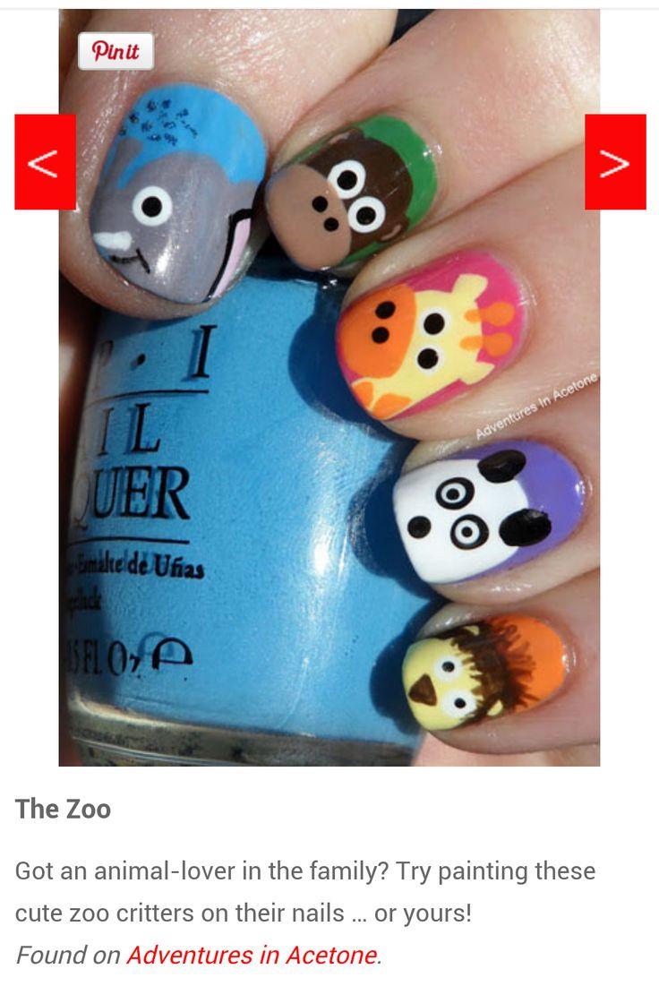 10 besten Whimsical nail designs Bilder auf Pinterest | Nagelkunst ...