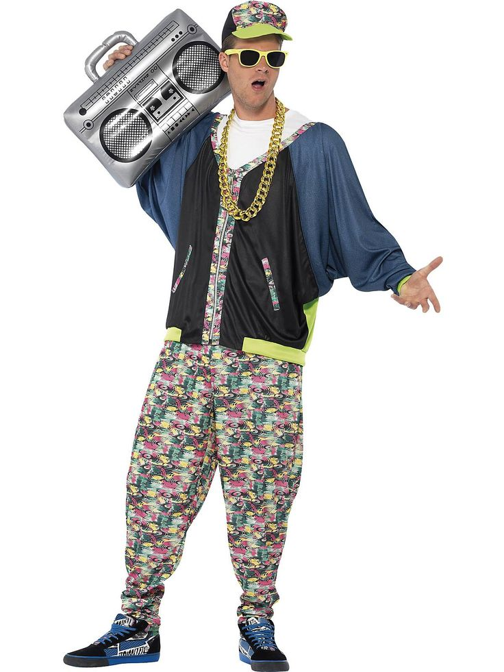 You'll look like you're the star of a music video for artists such as The Beastie Boys, MC Hammer or Run D.M.C when you show up to a party on Halloween wearing this 80's Hip Hop Costume Men's Costume.