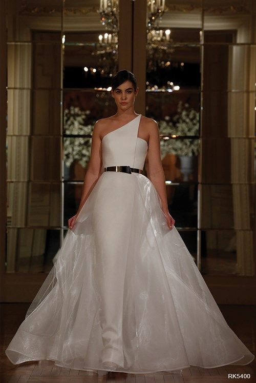 Cute Romona Keveza Collection High Neck A Line Gown KleinfeldBridal