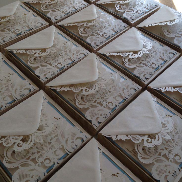 @revadesign laser cut wedding invitations.