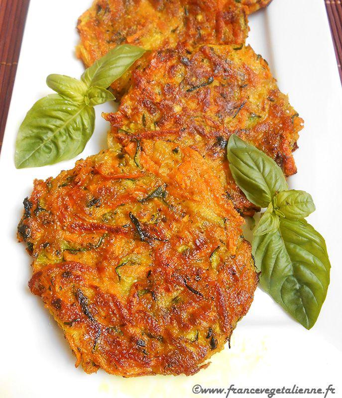 Galettes de courgettes et carottes (recette végane)
