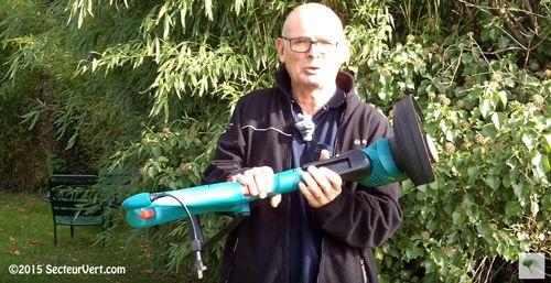 BOSCH JARDIN : Scoop Secteur-Vert.com ! Découvrez le coupe-bordures électrique filaire ART 27 à hauteur ajustable par pression, une nouveauté 2016 présentée par Daniel Vermandel
