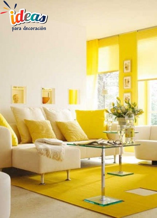 Checa Como Integrar El Color Amarillo A Tu Hogar Segn FengShui Bright Living RoomsLiving Room