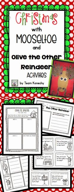 These two stories are wonderful. The kids love Mooseltoe, and Olive the Other Reindeer.