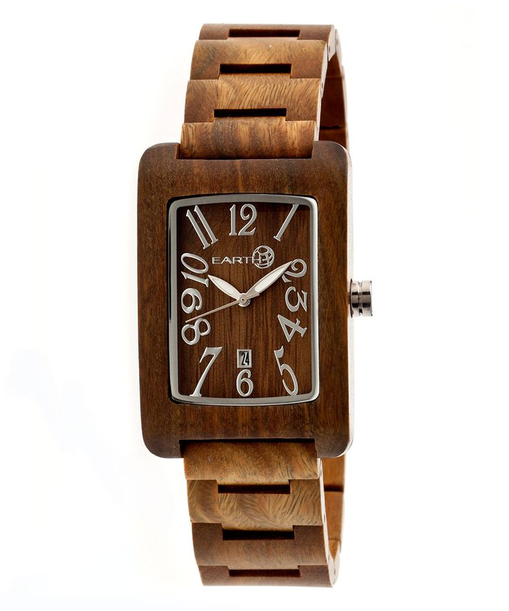 Look what I found on #zulily! Olive Trunk Wood Bracelet Watch by EARTH wood watches #zulilyfinds