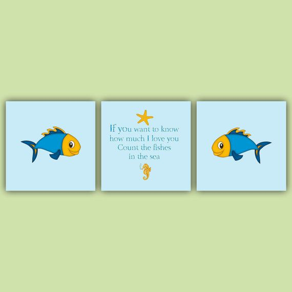 Three Piece Wall Art for Child's Room