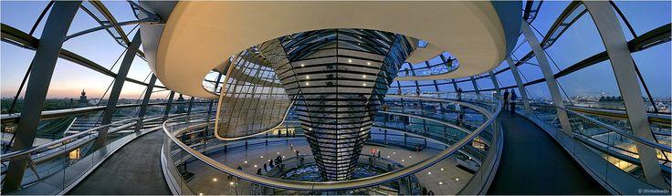 Reichstagskuppel Panorama (Remake) von Detlef Winkelewski