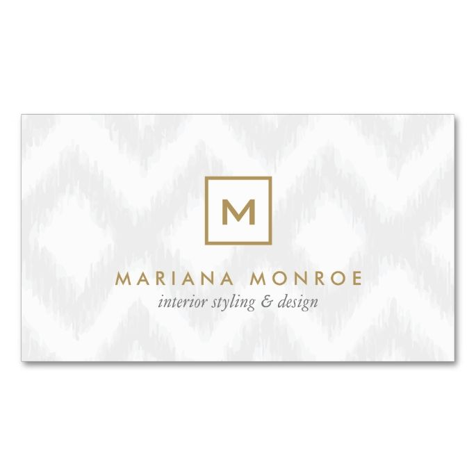 2291 best monogram business card templates images on pinterest box logo with your initialmonogram on gray ikat business card colourmoves