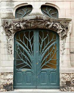 door: The Doors, Art Nouveau, Front Door, Blue Doors, Trees Of Life, Trees Branches, Front Doors, Artnouveau, Architecture