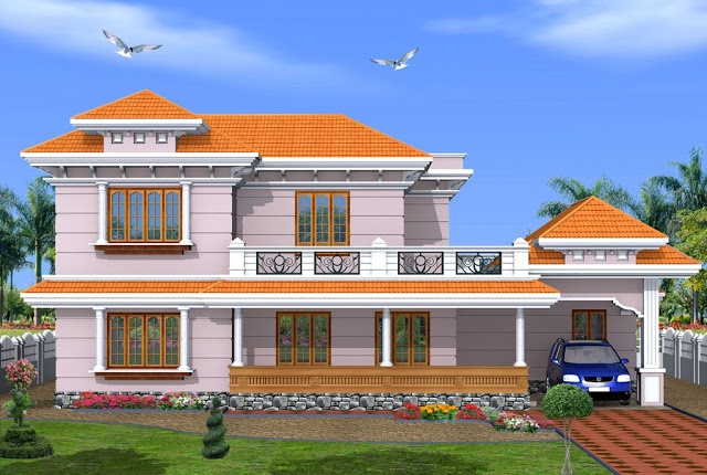 2500 Sq ft 4 Bedroom Kerala Style House Design From Green
