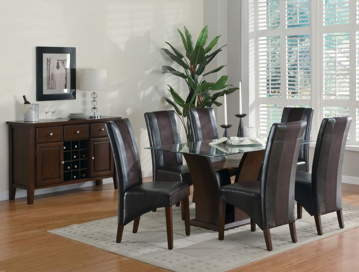 Elegant Coaster Furniture Cherry 5 Piece Set Table 4 Side Chair Gallery