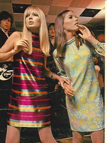 1960's Fashion + plus that sort of wistful, lost look that so many wore back then....