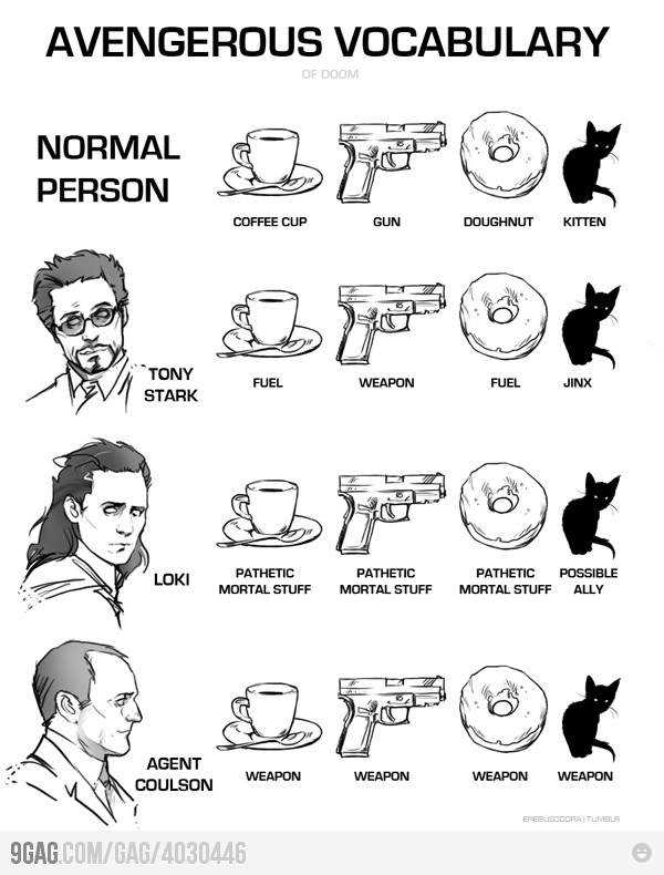 Avengerous VocabularyGeek, Agent Coulson, Stuff, Marvel, Avenger Vocabulary, Avengers Vocabulary, Funny, Theavengers, The Avengers