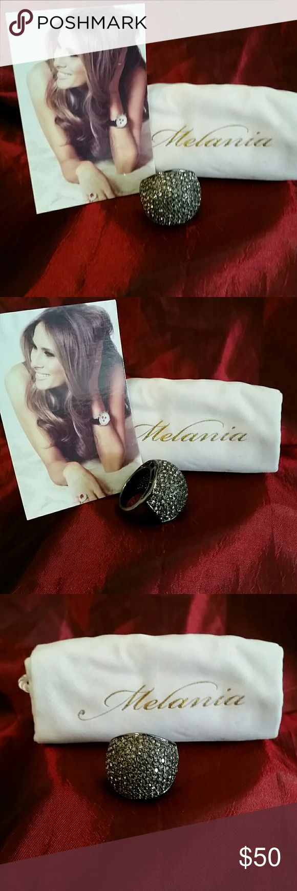 Selling this Melania Trump Black Dome Ring on Poshmark! My username is: fashionamazon. #shopmycloset #poshmark #fashion #shopping #style #forsale #Melania Trump  #Jewelry