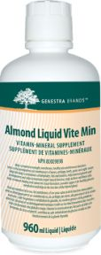 Almond Liquid Vite Min by Genestra. Almond Liquid Vite Min provides a well-balanced combination of vitamins, minerals, and herbs in a great-tasting liquid form. An antioxidant for the maintenance of good health;