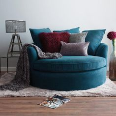 Nest Furniture Faster Chair - Bumps Teal.... Would make a cozy reading corner in the basement
