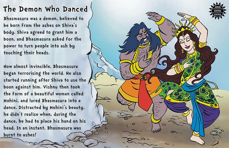 Powerful, sometimes-clever, always-fascinating villains of mythology! #VillainsofMythology #Bhasmasura