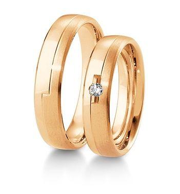 Breuning Trouwringen | Inspiration collectie gouden ringen | 5mm briljant 0.05ct verkrijgbaar in 8,14 en 18 karaat | 48041010 / 48041020 ook in rosé goud verkrijgbaar  #breuning #jdbw #trouwringen #breuningtrouwringen #gouden #goud #diamant