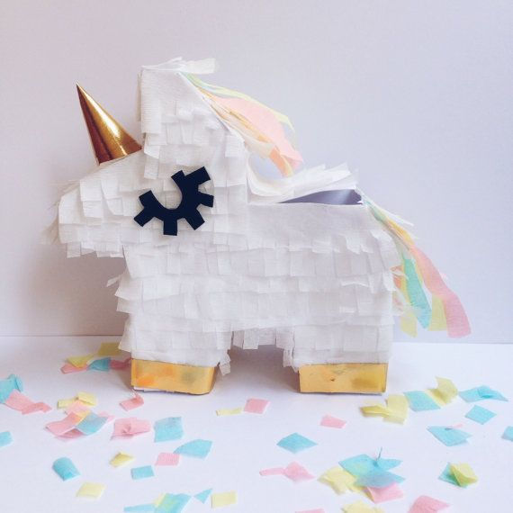 Mini unicorn piñata Unicorn pinata Unicorn party by MexiBrandCo