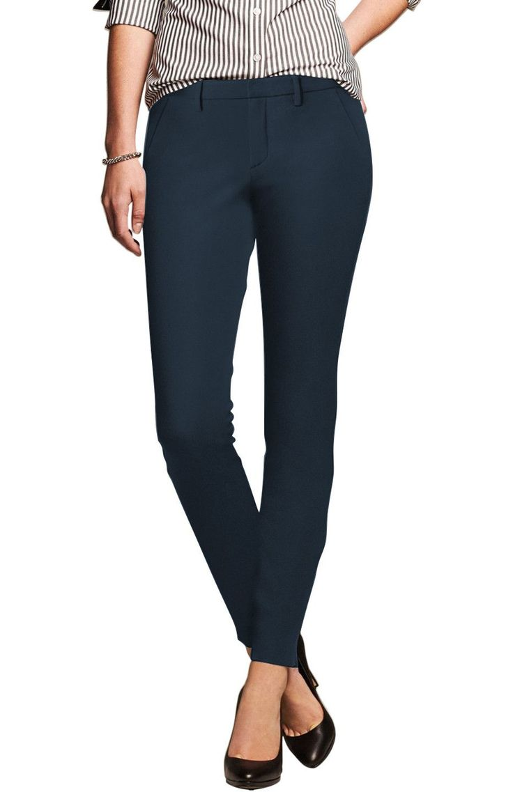 Tapered Formal Skinny Uniform Dress Pants | 30% Off First Order | Navy
