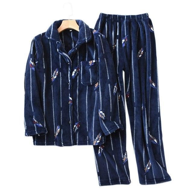 f30d3e5410 Buy Winter Flannel Thermal Matching Couples Women Men Pajamas Set and other  Sets at Narvay.