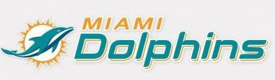 """NFL Miami Dolphins 3"""" x 10"""" Perfect Cut Decal"""