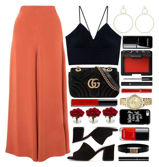 """""""Lima"""" by monmondefou ❤ liked on Polyvore featuring Maryam Nassir Zadeh, Natasha Schweitzer, Topshop, Gucci, Bobbi Brown Cosmetics, Chanel, NARS Cosmetics, Giorgio Armani, Nearly Natural and Casetify"""