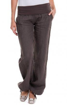 Льняные брюки на резинке