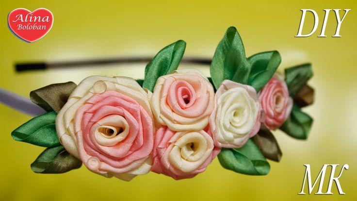 Крученая Роза из Лент / Twisted Rose of Ribbons