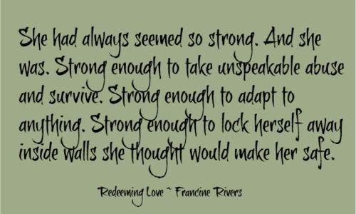 Favorite book. redeeming love francine rivers -